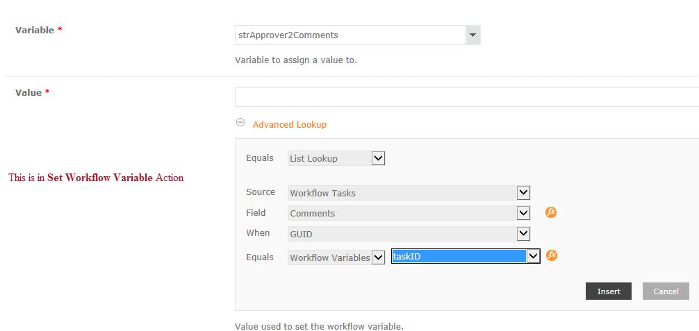 Set Workflow Variable