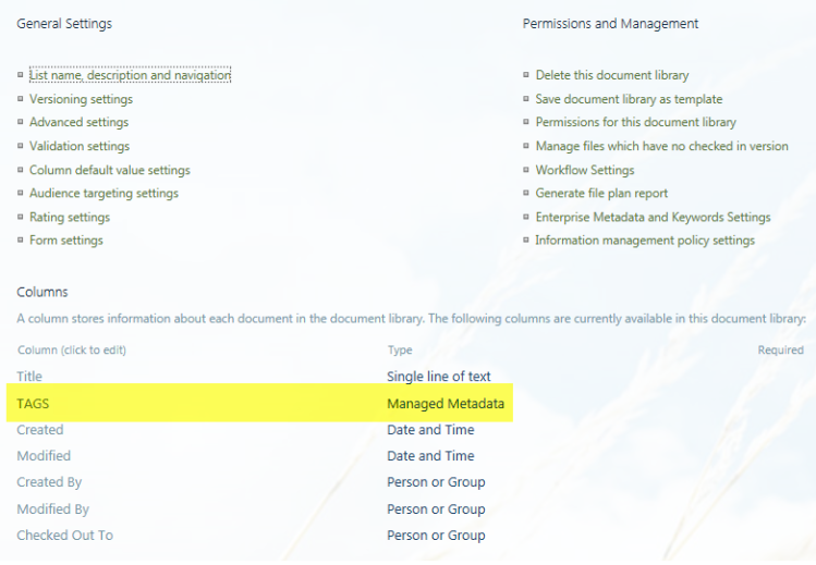 Add managed metadata column in your SharePoint document library