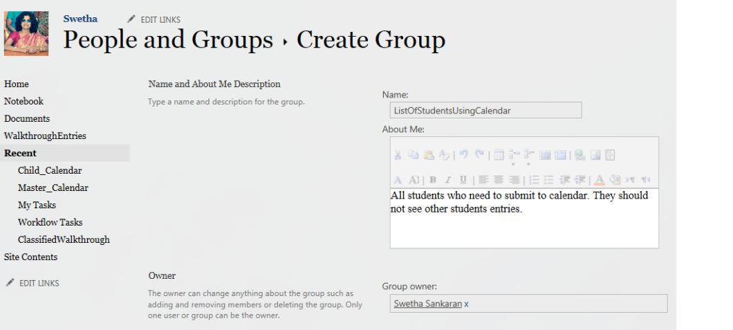 CreateSPGroupForStudents