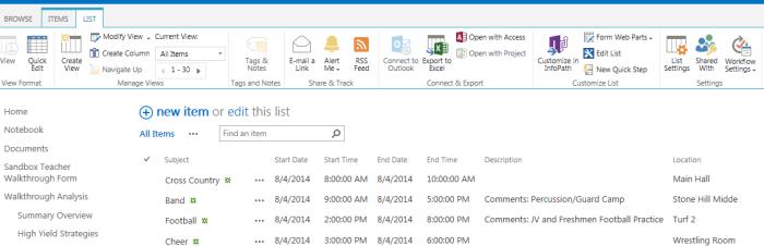 Importing an external calendar(CSV) into SharePoint – Office