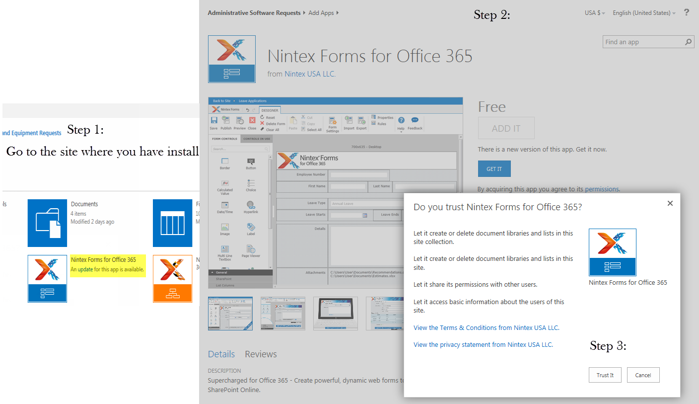 Nintex forms for office 365 july 30 update and permission to create forms office 365 cloud - Formation administration office 365 ...