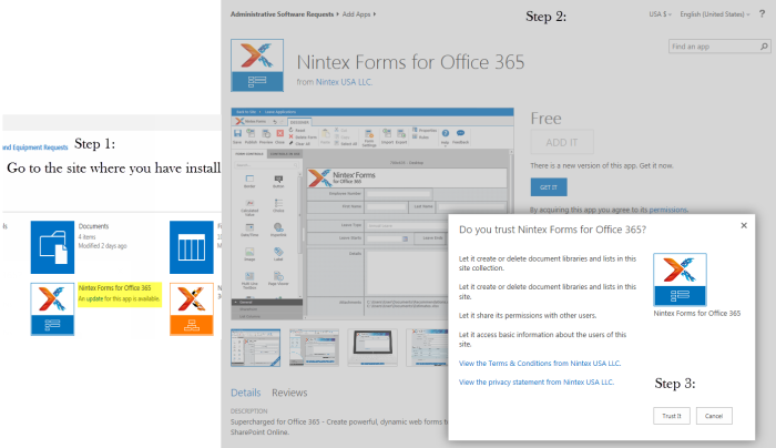 Nintex Form for O365 Update