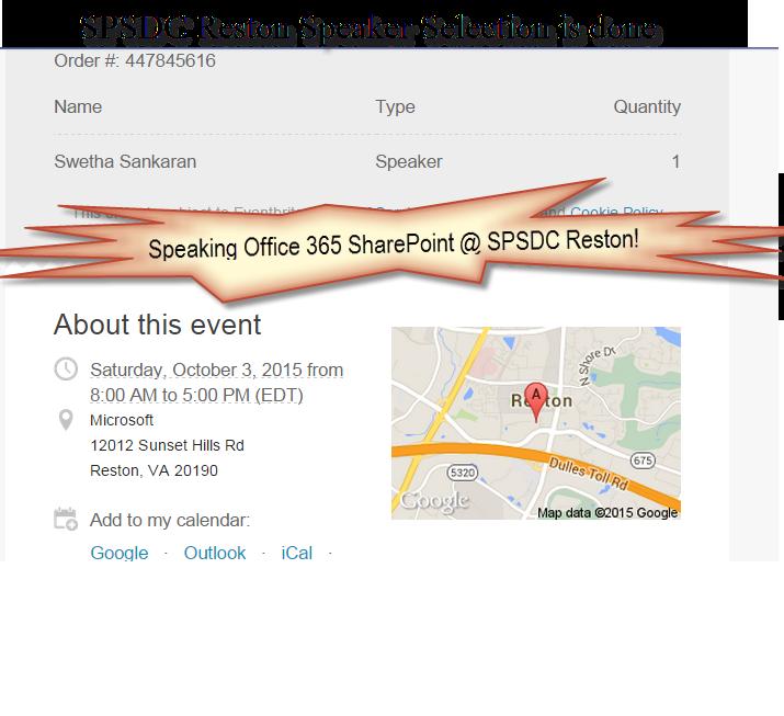 SharePoint Saturday DC, Reston - Oct 03, 2015