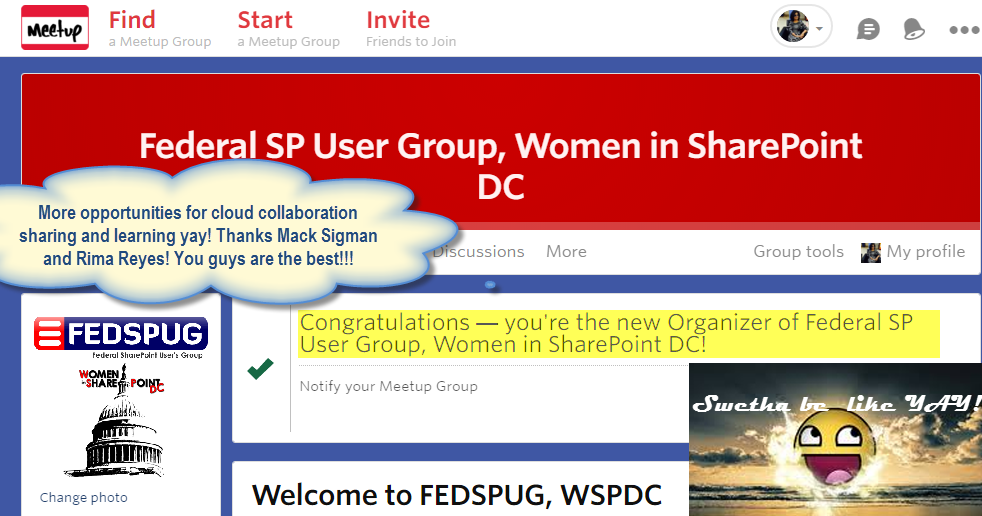 Stepping up as president and organizer of Women in