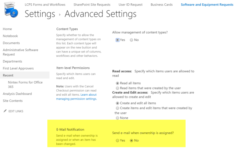 automatic alert in sharepoint online task lists office 365 cloud