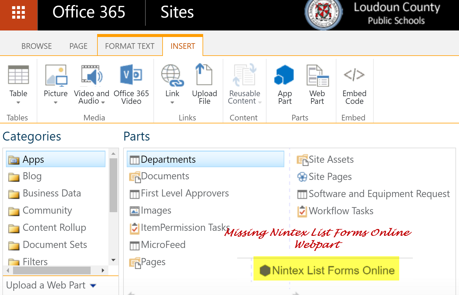 Missing Nintex Forms Icon – Fix – Office 365 Cloud Productivity Posts